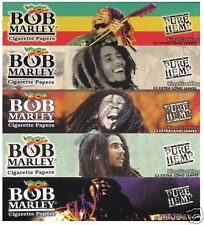 BOB MARLEY Kingsize Pure Hemp Rolling Papers King Size Paper Set 5 Packs