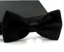 Classic Men Satin Bowtie Necktie Bow Tie Wedding Tuxedo Party Fashion Adjustable