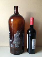 "Large Vintage Apothecary Chemist Bottles Brown Glass 39 cm 15.5"" 140 fl oz"