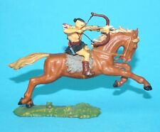 ELASTOLIN 4CM 40MM SERIES No. 8756 MOUNTED HUN HORSE RIDER HUNNE 1960s GERMANY