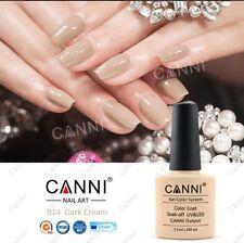 014 Canni Oscuro Crema Beige UV Led Soak Off Gel Colores Nail Art 7.3ml Reino Unido Vendedor