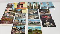 20 Vintage Florida Post Cards Postcards Silver Springs Fort Pierce - Unused