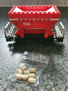 Lego Red Hopper Train Wagon From set 4564 With load