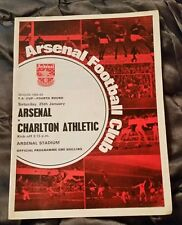Arsenal v Charlton Athletic F.A Cup 4th Rd Programme 25/01/69