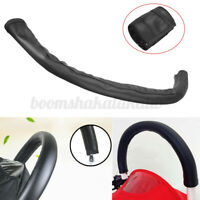 Grip Handle PU Leather Sleeve Case Cover For Baby Pram Pushchair Stroller Car T