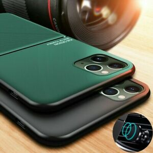 For iPhone 13 12 Pro Max 11 XS XR X 7 8+ ShockProof Magnetic Leather Case Cover
