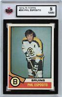 1974-75 Topps #200 Phil Esposito Graded 8.0 NMM (*100519-163)