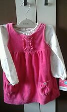 Carters pink velvet 2 piece outfit age 24 months