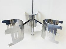 LUSTRE PLAFONNIER CHROME 1970 VINTAGE SPACE AGE POP VTG 70S CHROME-PLATED LIGHT