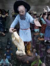1 pastore con agnello  TERRACOTTA 8 cm pastori presepe nativity shepherds crib p