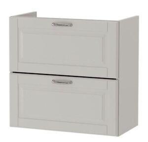 Ikea Godmorgon Kasjön grau Waschbeckenschrank mit 2 Schubladen 60 cm 403.876.17
