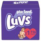 Luvs Pro Level (Triple Leakguard) Disposable Diapers Size 1, 2, 3, 4, 5, 6