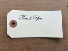 50, 4 1/4 X 2 1/8 Thank You Scrap Book Tags, Manila Gift Paper Label