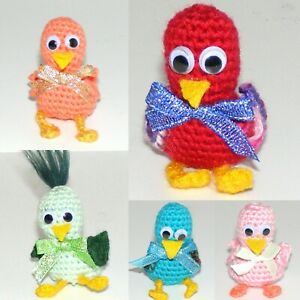 """*5 Little Ducks, Crochet, 2"""" Tall, Handmade, New"""