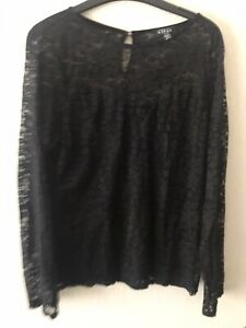 Ladies Lipsy Lace Top Size 18