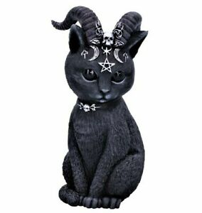 Nemesis Now Pawzuph Horned Occult Cat Pentagram Skull Figurine Witch Goth Gift