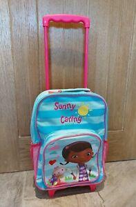 DISNEY Doc Mcstuffins Childrens Wheeled Cabin Hand Luggage Suitcase Travel Bag