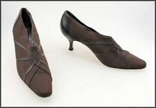 PREVATA ITALY WOMEN'S HEELED CLASSIC DRESS BROWN SHOES SIZE 7.5 AAA
