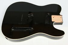 More details for telecaster tele style double bound alder body: gloss black finish