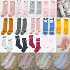 Paar Baby Kinder Socken Kinderstrümpfe Langsocken Cartoon Kniestrümpfe Strümpfe