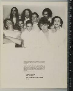 Vintage The Tubes Fan Club Correspondence Page tob