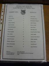 25/02/1997 Grimsby Town Reserves v Barnsley Reserves  (single sheet). Footy Prog
