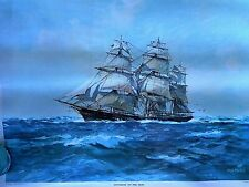 "Ship Mast Soverign of the Seas Print Hugh Knollys Holland Prestons Marine 20x16"""