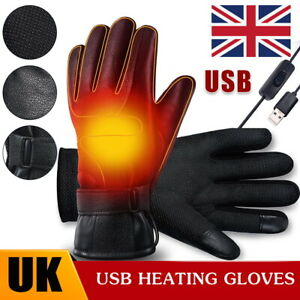 Rechargeable Electric USB Heated Warmer Hand Motorcycle Outdoor Cycling Gloves