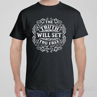 Christian T-shirt THE TRUTH WILL SET YOU FREE John 8:32 - Jesus Church gift