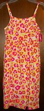 Girls Dress sz 10-12 White Ruffle Sundress Yellow,Pink,Orange&Rose Splashes NWT