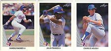 11 1990 LEAF BASEBALL TEXAS RANGERS CARDS (BAINES/FRANCO/HOUGH+++)