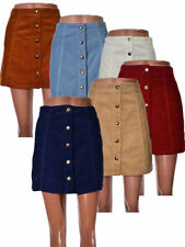Corduroy A-line Regular Size Skirts for Women