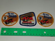 Set of 3 APA Leagues Pool Billiard On The Snap & Division Champions Patch 9 ball