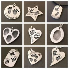 Prints Charming Large Pendant Handprint Footprint Fingerprint Pawprint Jewellery