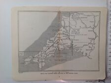 Sketch Map Areas In Cornish Guides, 1921 Vintage Map,  Atlas