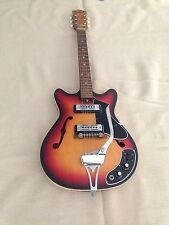 Vintage 1960's Diasonic Archtop Hollow Body Sunburst Lawsuit Electric Guitar