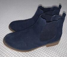 Ladies M&S Size 5 - Blue Suede Boots