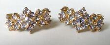 Pretty Hallmarked 9ct Gold Tanzanite Hoop Earrings