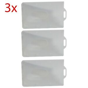 3x ID Credit Fuel Name Card Holders (NO Lanyard) Holds 87x53mm CreCard Perfectly