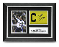 Teddy Sheringham Signed A4 Photo Framed Captains Armband Display Spurs Autograph