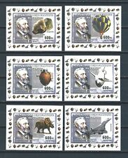 French Colonies Congo 6 deluxe miniature stamp sheets - Balloons- Aviation