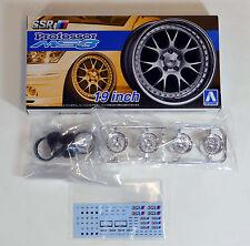 "Aoshima 1/24 SSR Professor MS3 19"" Wheel & Tire rims  Plastic Model 5255 (16)"