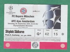 Orig.Ticket  Champions League  2004/05  BAYERN MÜNCHEN - AJAX AMSTERDAM  !!