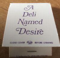 A Deli Named Desire New York Mint Vintage matchbook unstruck Rare