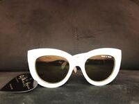 Quay x Shay Jinx 9.1 White Quay Australia Sunglasses With Soft Case Cat Eye NEW