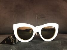 Quay x Shay Jinx 9.1 White Quay Australia Sunglasses With Soft Case Cat Eye NEW