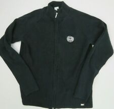 ITC Logo Embroidered Zip Front Black Jacket Women's Size L