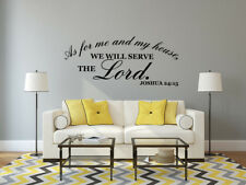 Bible Verse Wall Decal Sticker Word Vinyl Removable Quote Scripture Art Decor Joshua 24 15g