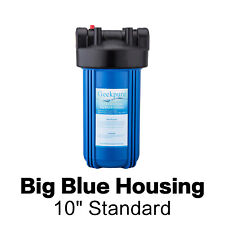 4.5 x 10-inch Big Blue Whole House Water Filter Housing 1-inch Outlet/Inlet