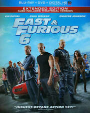 Fast & Furious 6 Extended and Theatrical Version Blu-Ray + DVD + Digital HD
